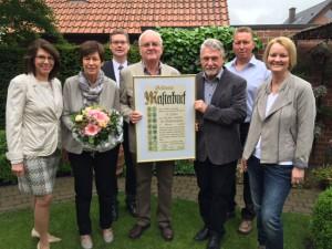 Verleihung goldener Meiserbrief durch die Kreishandwerkerschaft an Lothar Schmitz am 25. Mai 2016